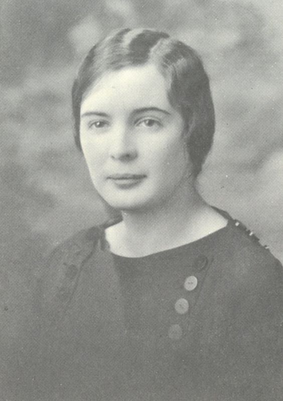 Gertrude Barber at Erie's Villa Maria Academy in 1928