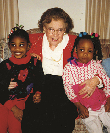 Dr. Gertrude Barber Sitting With Children
